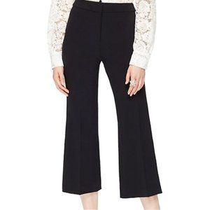 Kate Spade Crepe Cropped Flare Pants, Size 10